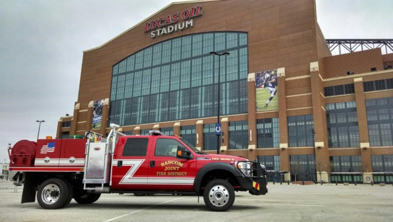 Weis Quick Attack in front of Lucas Oil Stadium, FDIC