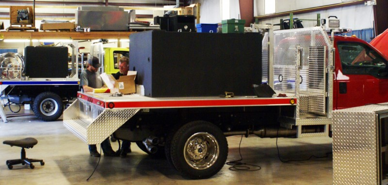 Weis Fire Apparatus being built