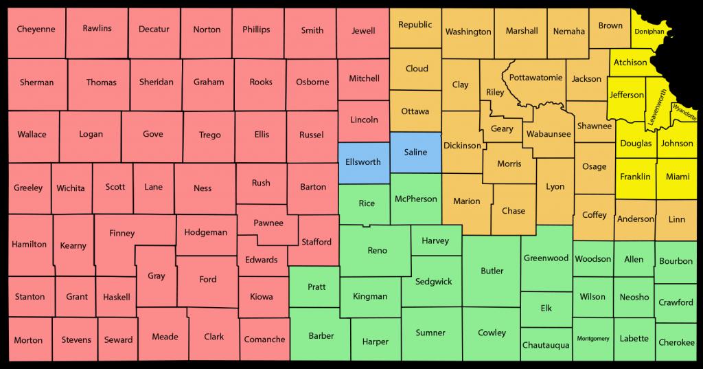 Kansas Territories Map